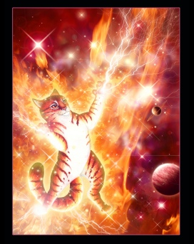 Dancing Fire Cat